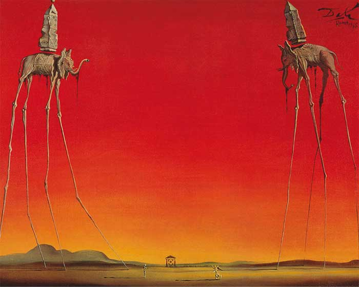 Salvador Dali elephants