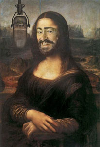 the painting of Monalisa