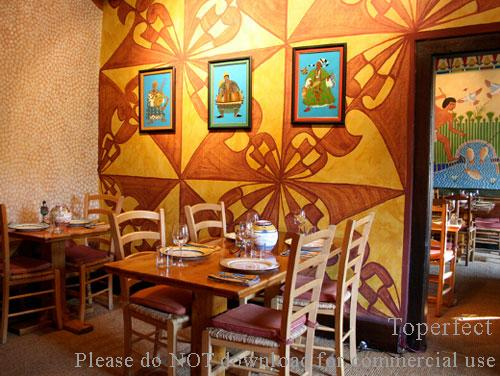 wall paintings and art decoration for cafe