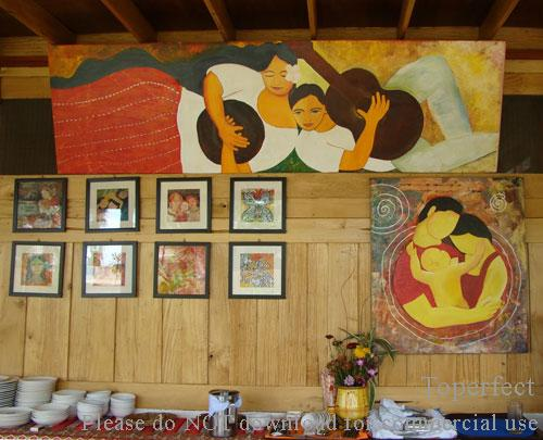 Restaurant wall decor