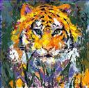 wild animal oil painting