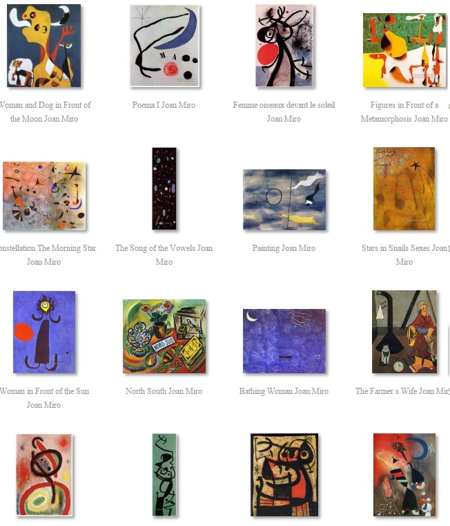 Miro Paintings for sale