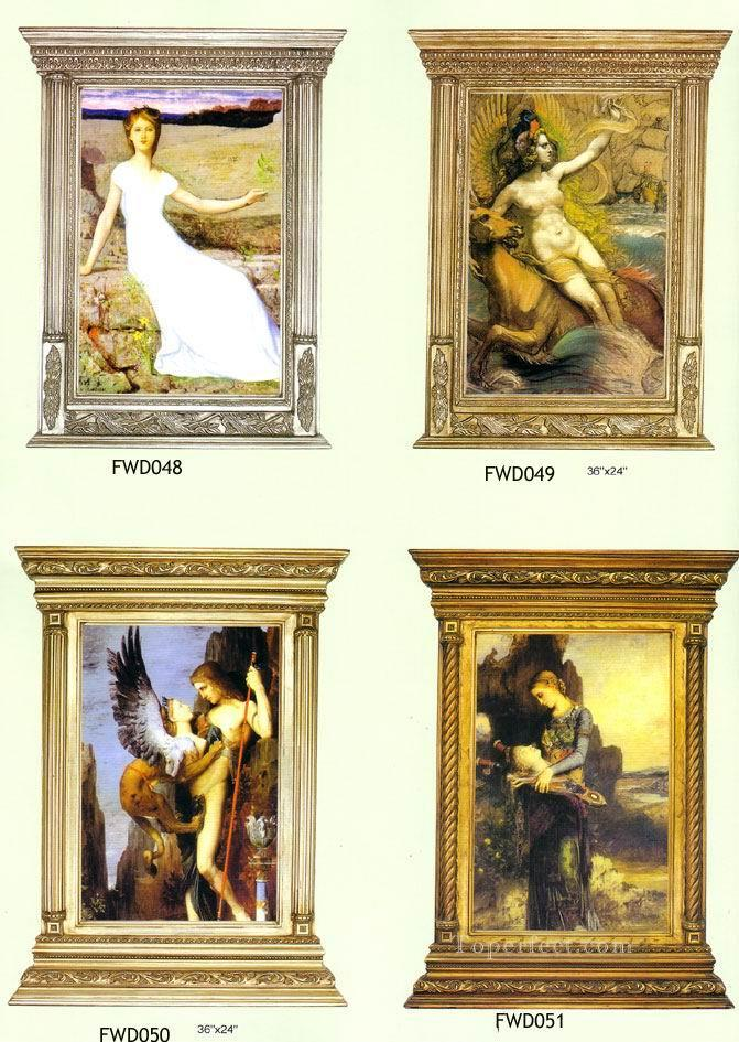 Oil Paintings of 0frwd011 wood carving frame painting Art for sale ...