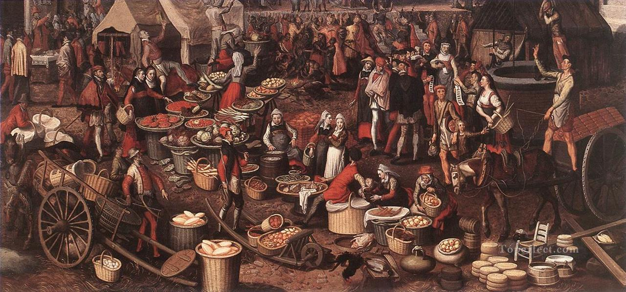 0 Market Scene 4 Dutch historical painter Pieter Aertsen