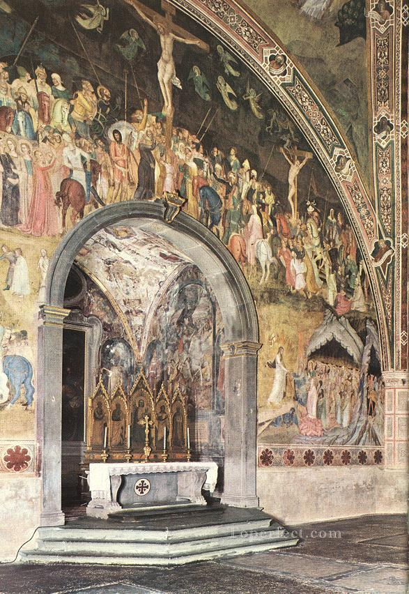 0 Frescoes On The Central Wall Quattrocento painter Andrea da Firenze