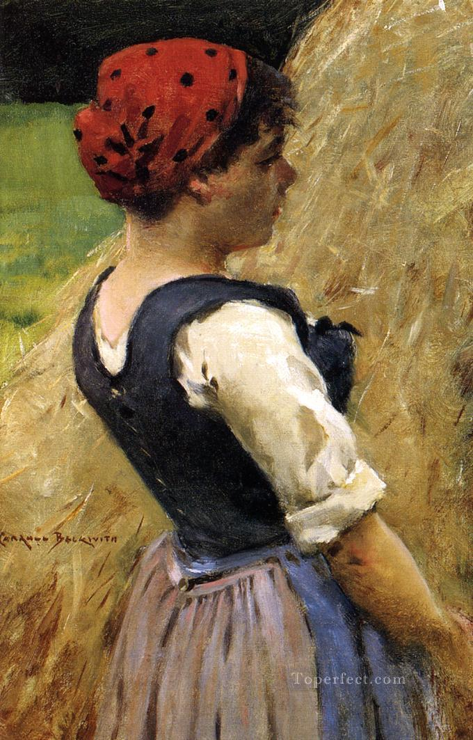 4 Normandy Girl impressionist James Carroll Beckwith