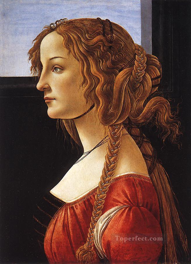 4 Portrait of an young woman Sandro Botticelli
