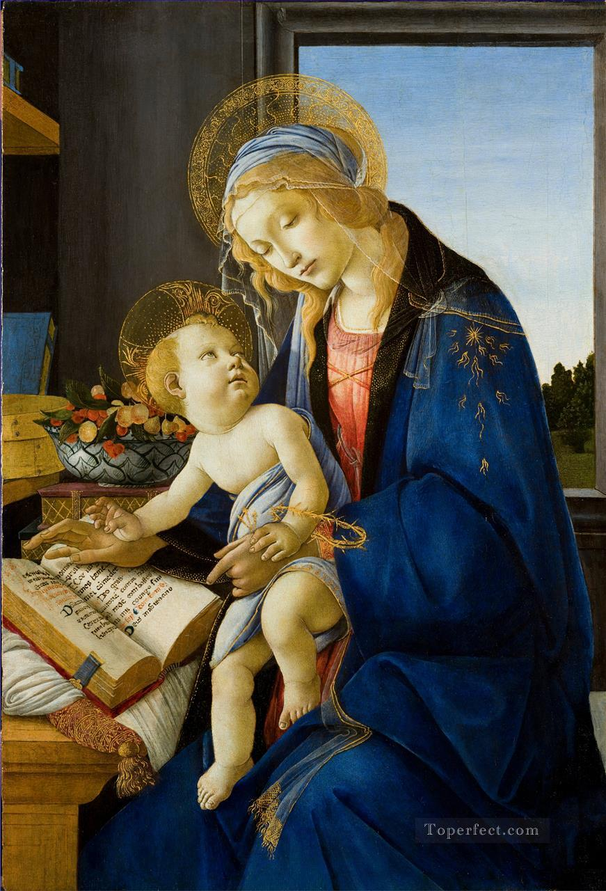 5 Madonna with the book Sandro Botticelli