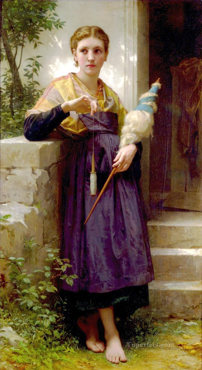 4 Fileuse Realism William Adolphe Bouguereau