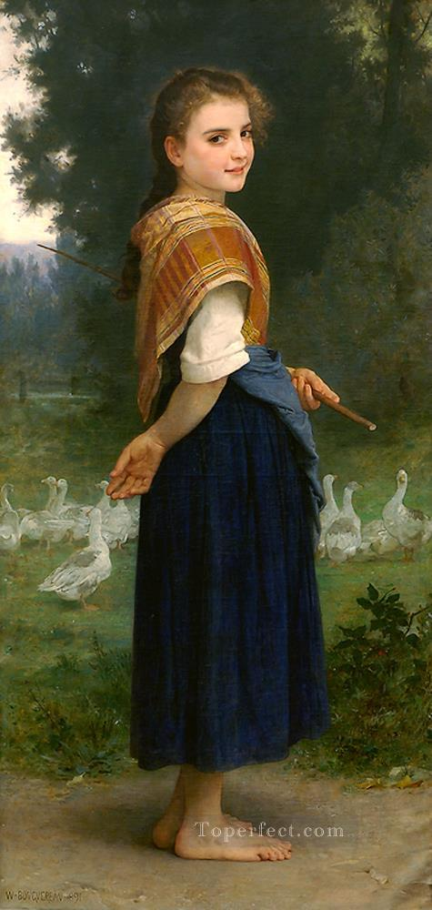 4 The Goose Girl 1891 Realism William Adolphe Bouguereau