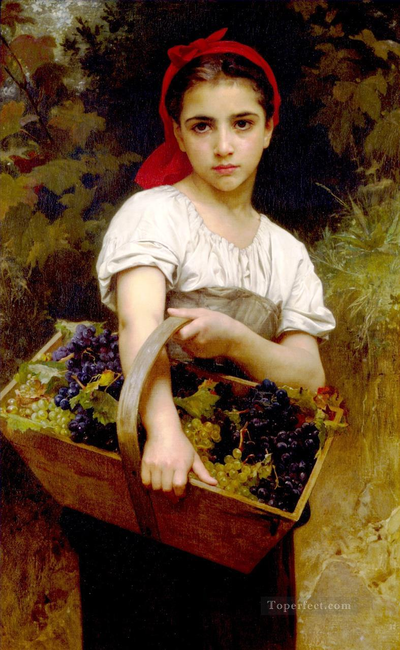 4 Vendangeuse Realism William Adolphe Bouguereau