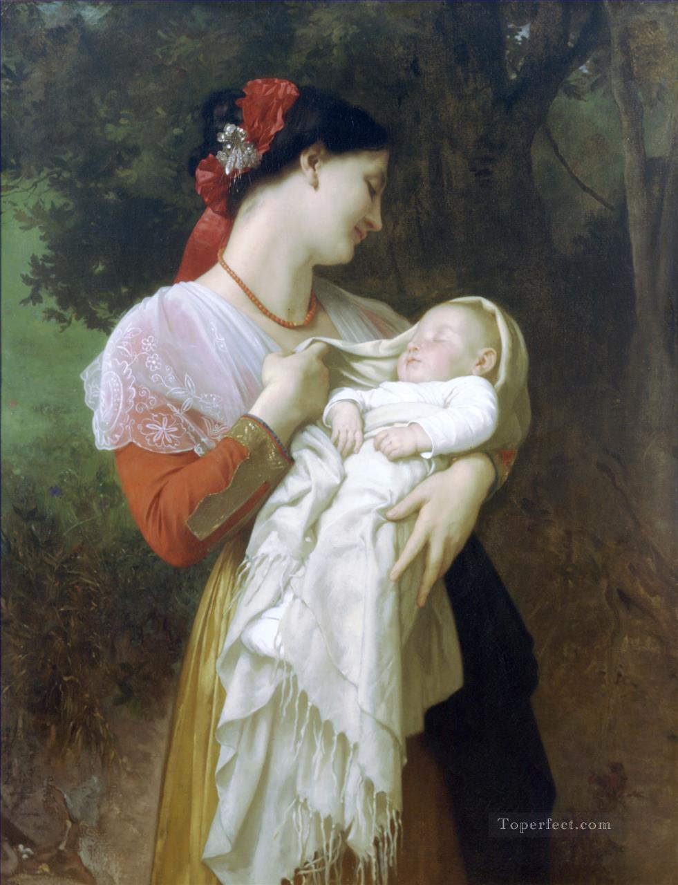 5 Admiration Maternelle Realism William Adolphe Bouguereau