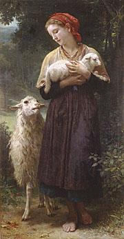 5 The Shepherdess 1873 Realism William Adolphe Bouguereau