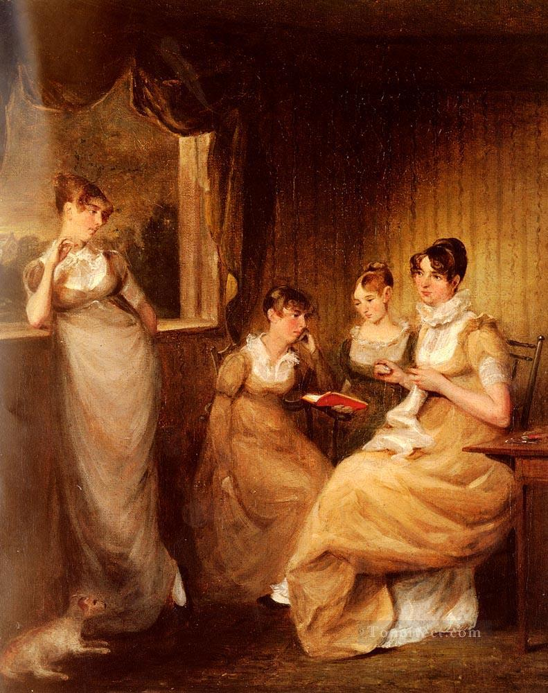 5 Ladies From The Family Of Mr William Mason Of Colchester Romantic women John Constable