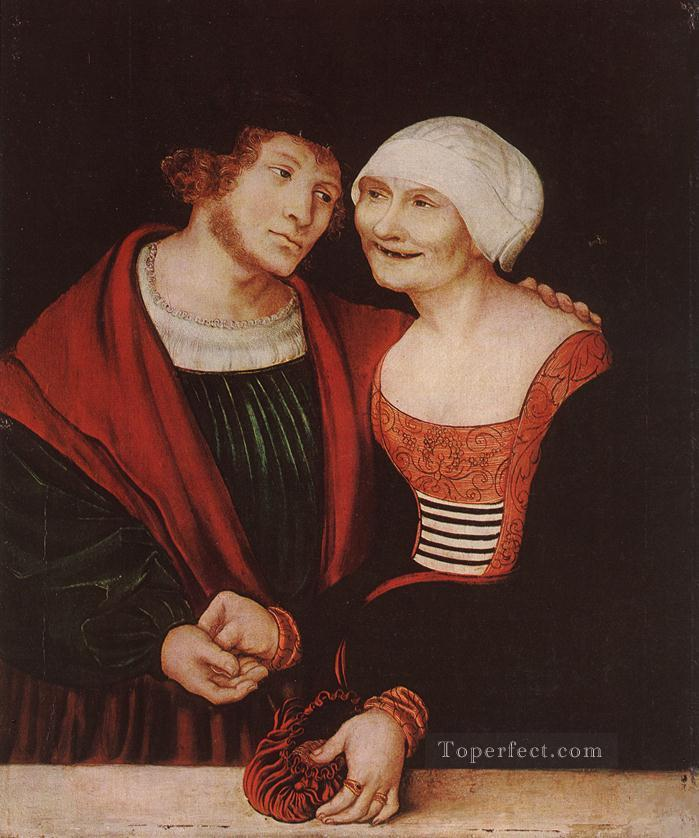 4 Amorous Old Woman And Young Man Renaissance Lucas Cranach the Elder