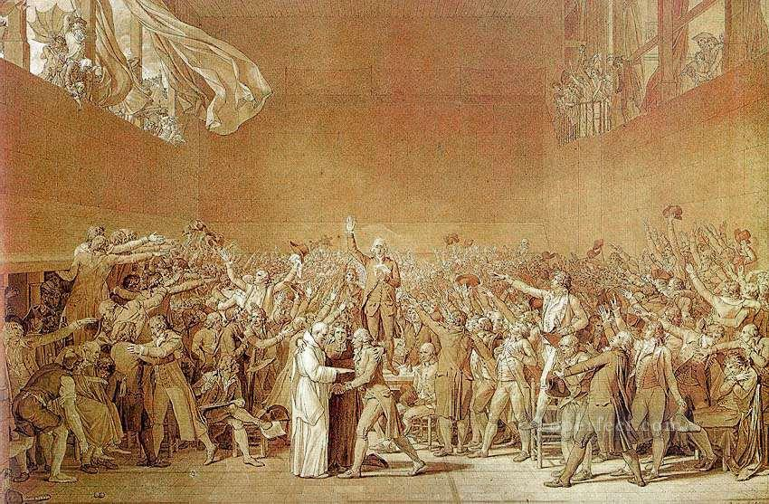 0 The Oath of the Tennis Court Neoclassicism Jacques Louis David
