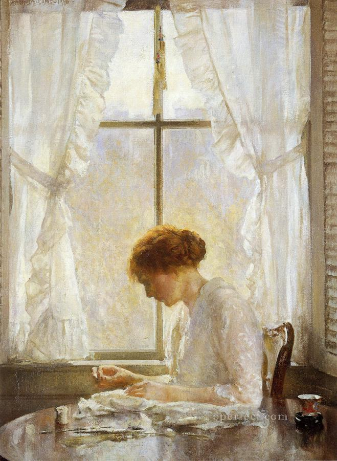 4 The Seamstress Tonalism painter Joseph DeCamp