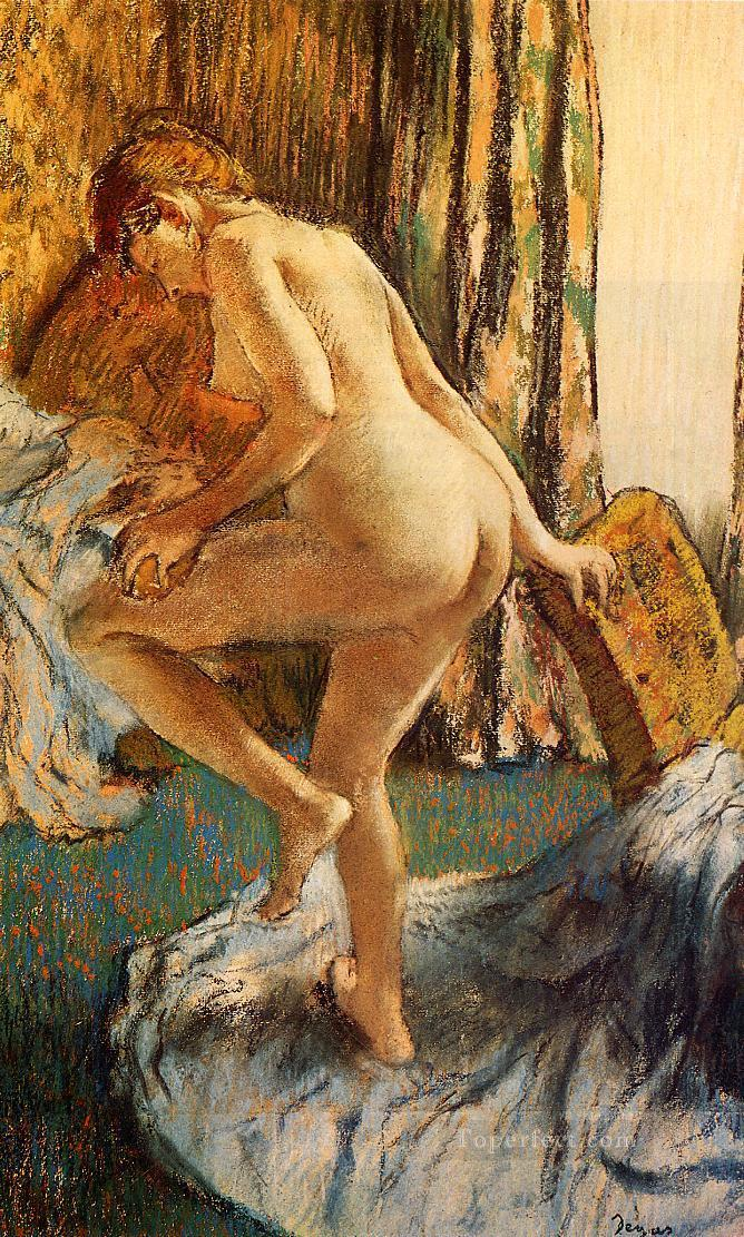 4 After the Bath 2 nude balletdancer Edgar Degas