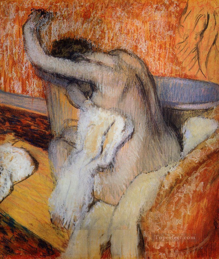 4 After the Bath Woman Drying Herself nude ballet dancer Edgar Degas
