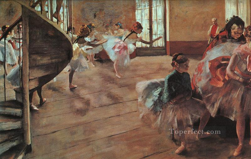 6 The Rehearsal Impressionism ballet dancer Edgar Degas