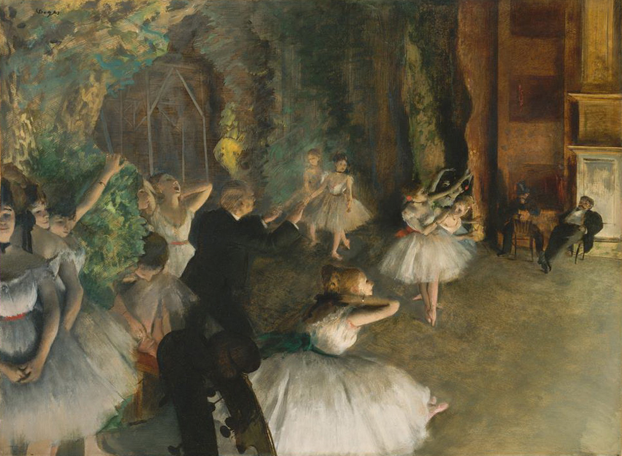 7 The Rehearsal Of The Ballet Impressionism balletdancer Edgar Degas