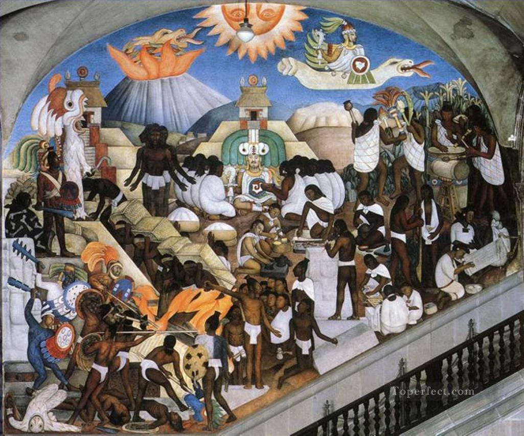 0 the ancient indian world 1935 Diego Rivera