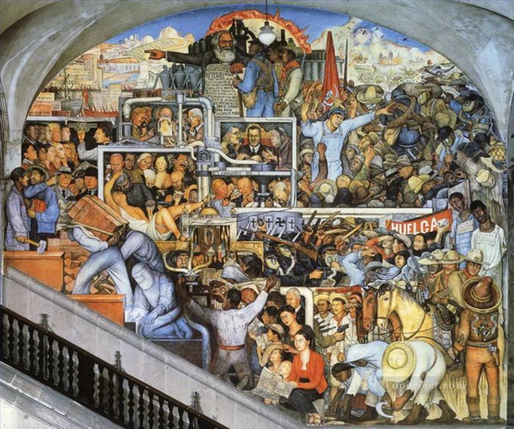 0 the world of today and tomorrow 1935 Diego Rivera