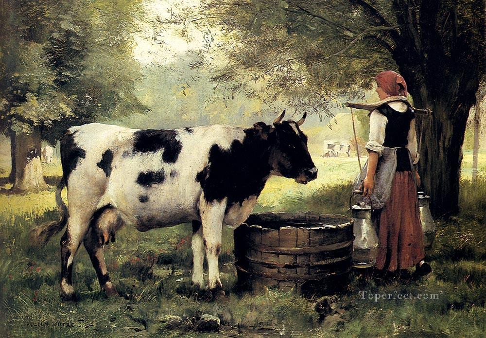 5 The Milkmaid farm life Realism Julien Dupre
