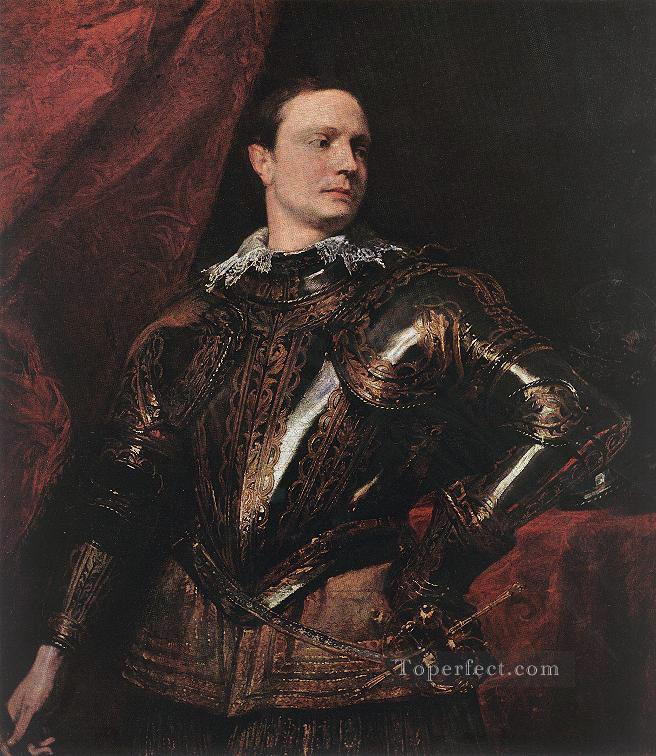 Oil Paintings of 4 Portrait of a Young General Baroque ...  Oil Paintings o...