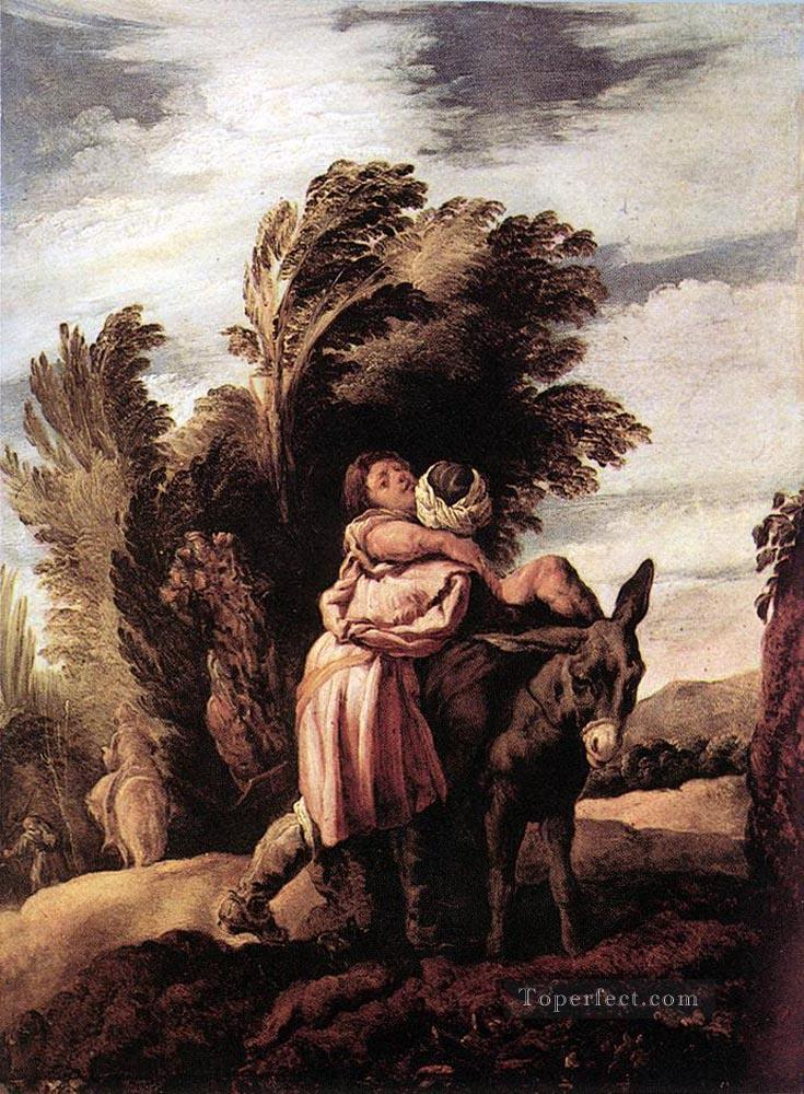 5 Parable Of The Good Samaritan Baroque figures Domenico Fetti