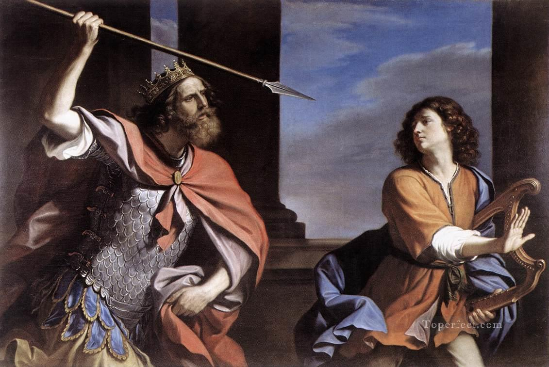 5 Saul Attacking David Baroque Guercino