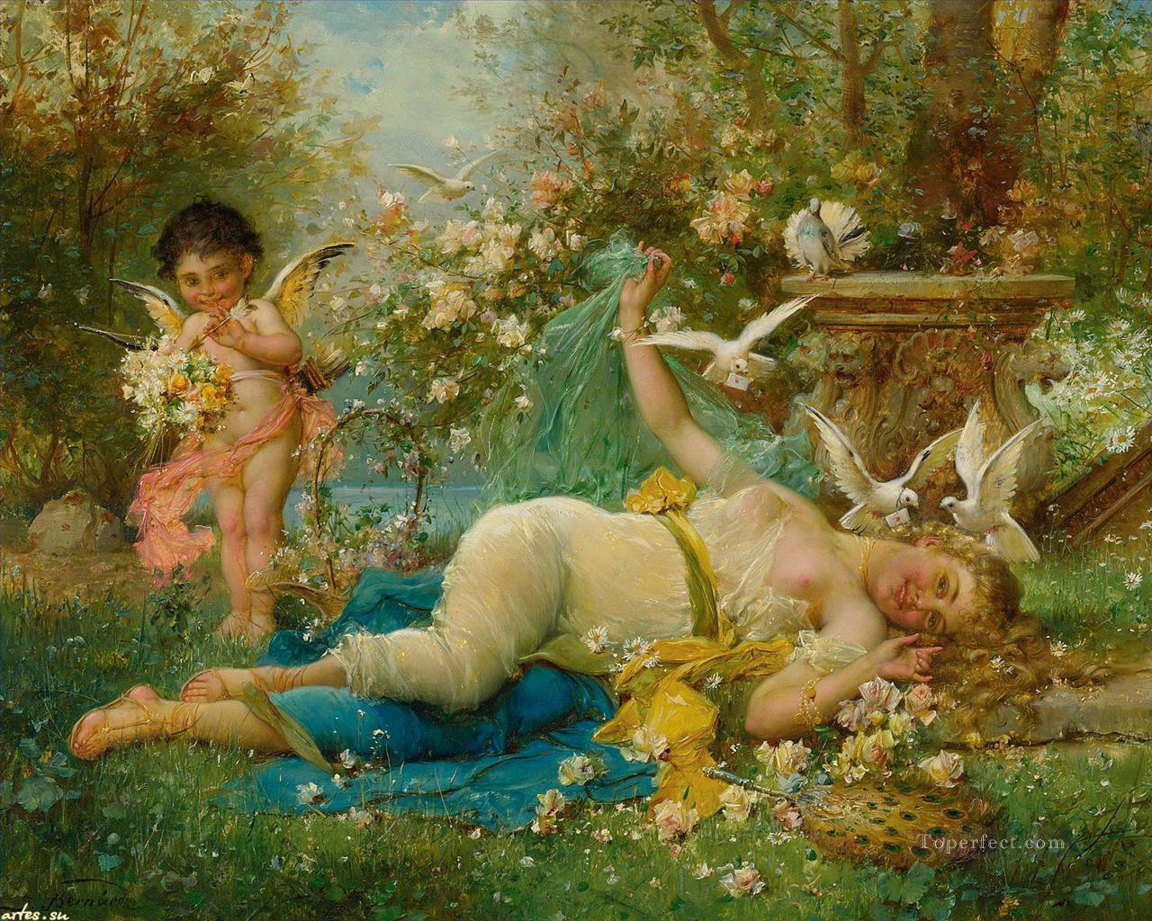 7 floral angel and nude Hans Zatzka