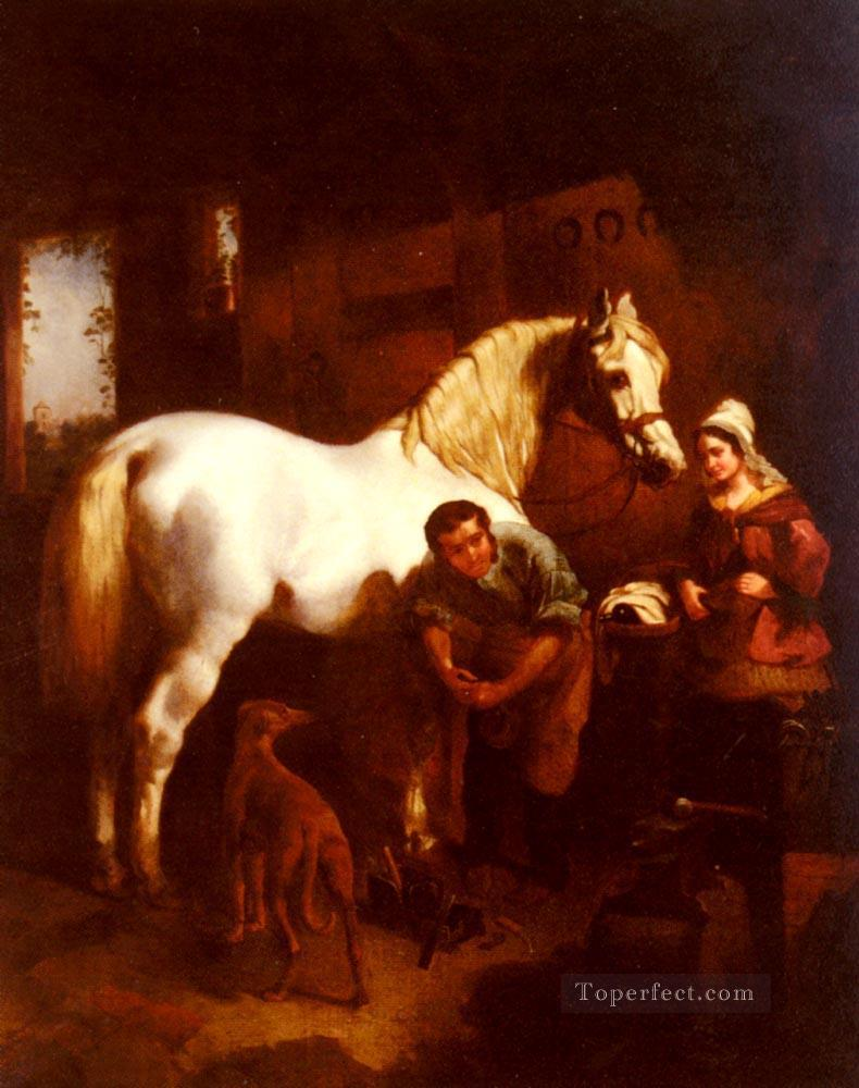 5 The Village Blacksmith Herring Snr John Frederick horse