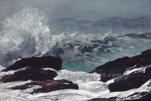 Oil Paintings of 3 Maine Coast Realism marine painter Winslow ...