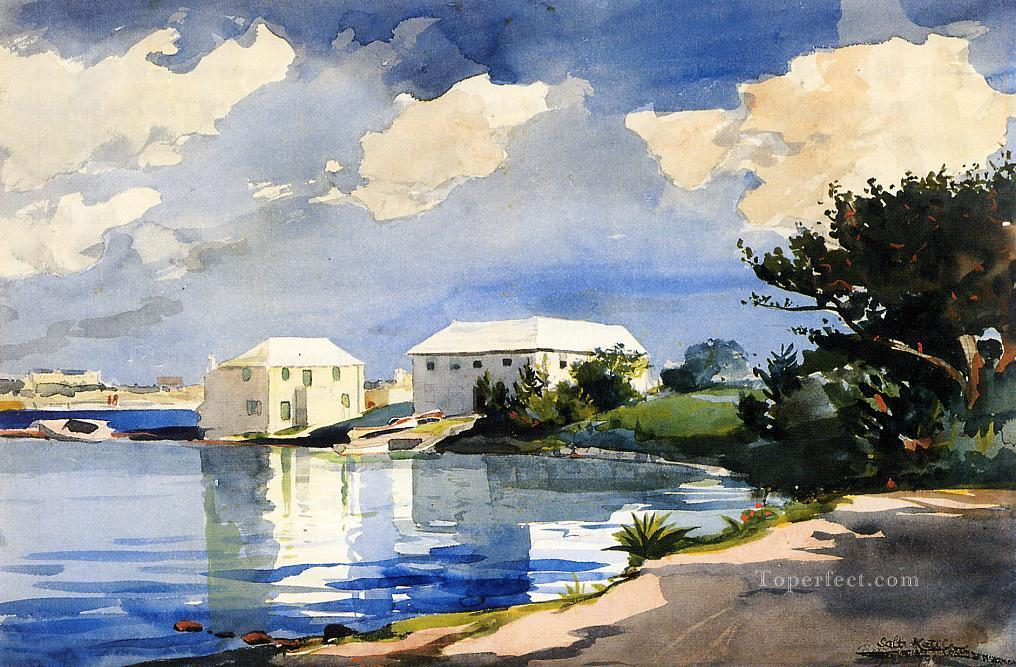 Oil Paintings of 3 Salt Kettle Bermuda Realism marine painter ...