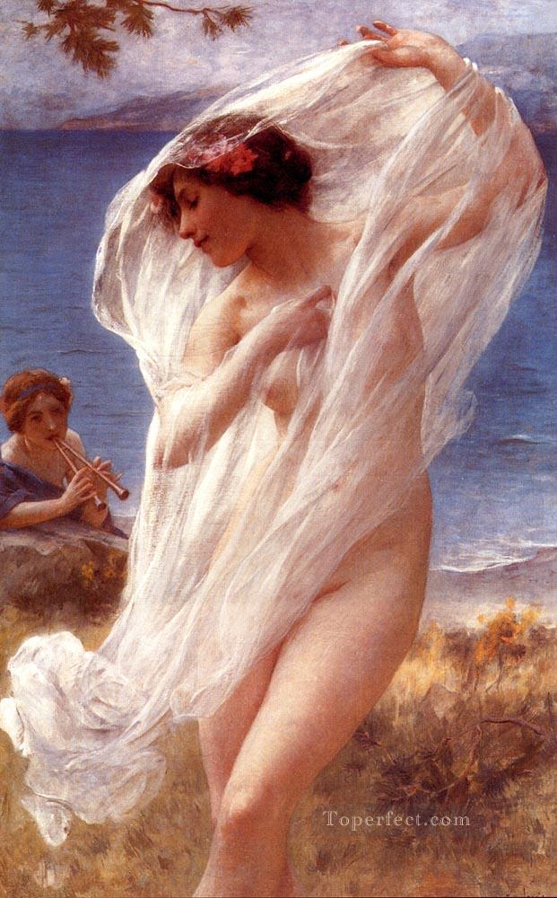 4 A Dance By The Sea realistic girl portraits Charles Amable Lenoir