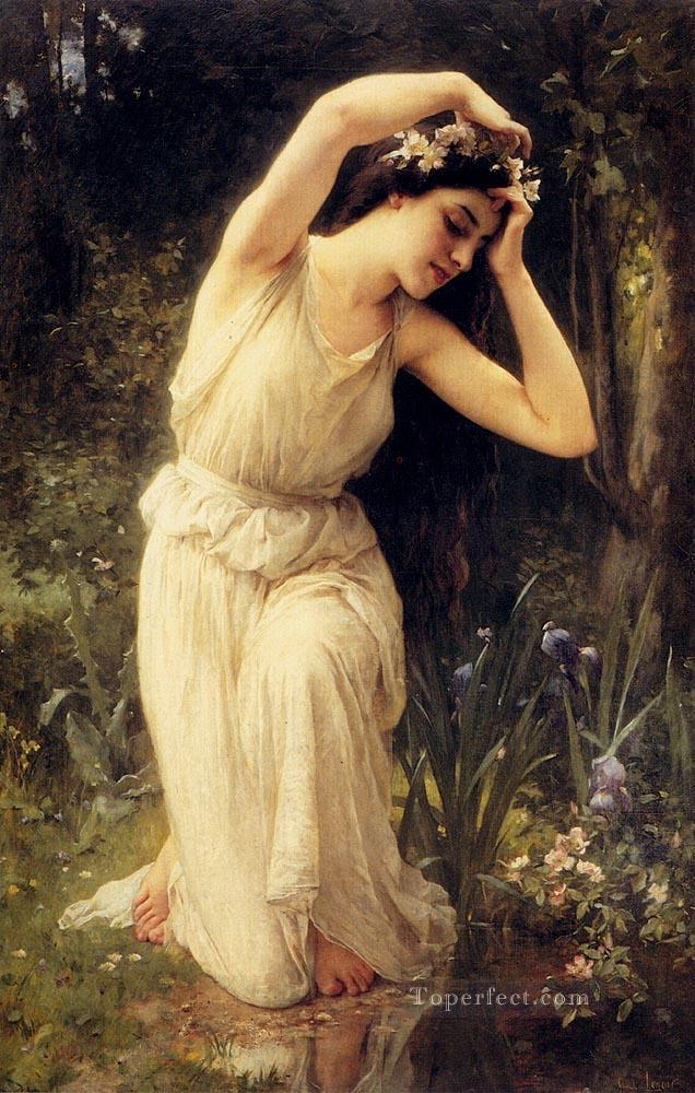 4 A Nymph In The Forest realistic girl portraits Charles Amable Lenoir
