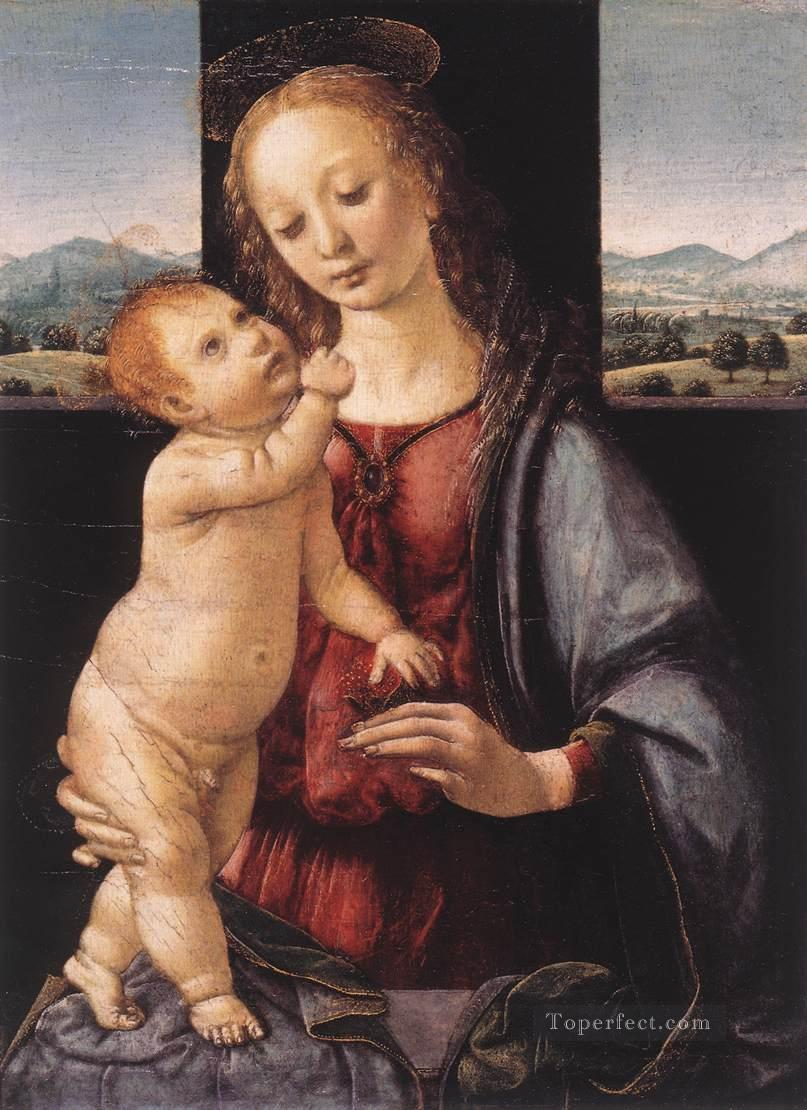 4 Madonna and Child with a Pomegranate Leonardo da Vinci