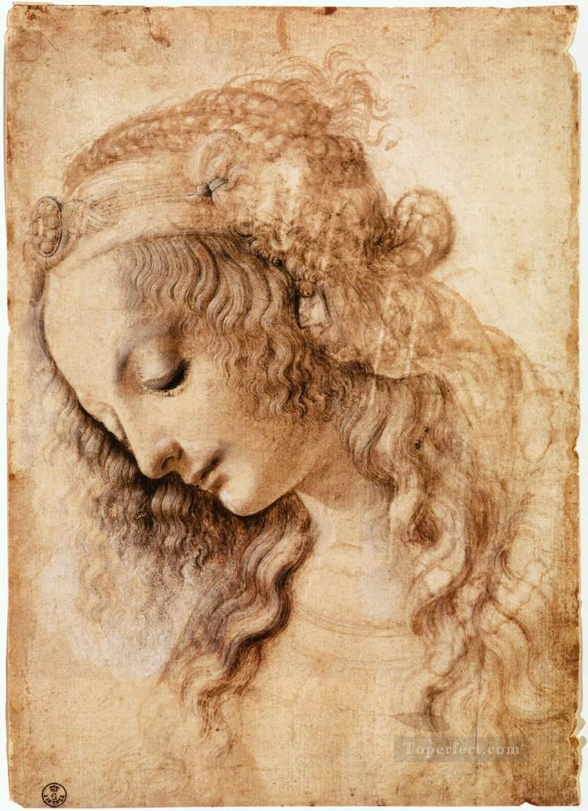 4 Womans Head Leonardo da Vinci