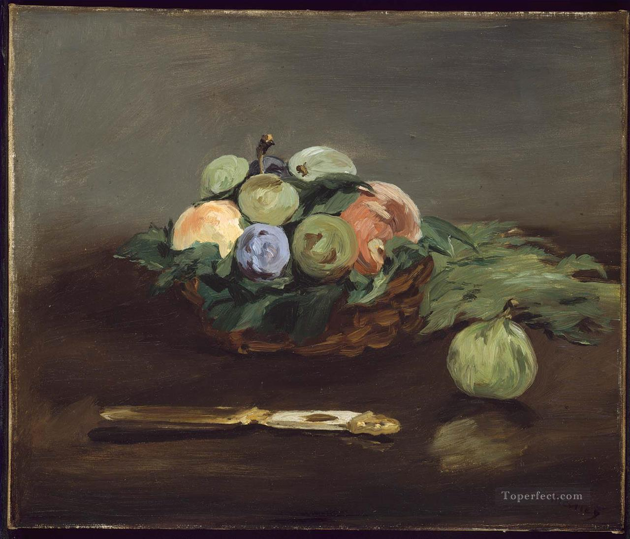2 Basket Of Fruit still life Impressionism Edouard Manet