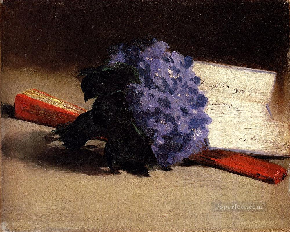 2 Bouquet Of Violets still life Impressionism Edouard Manet