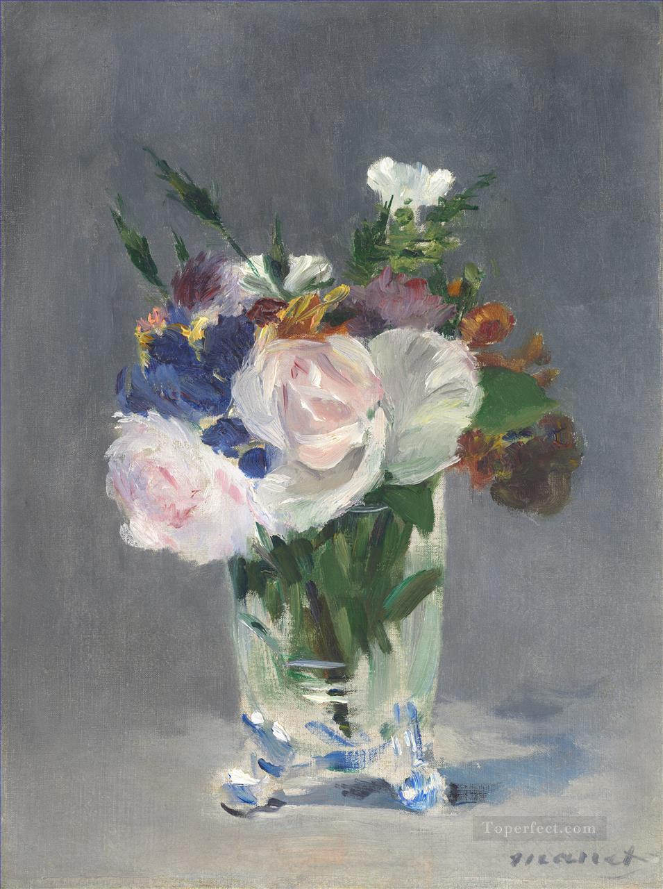 2 Flowers In A Crystal Vase 1882 flower Impressionism Edouard Manet
