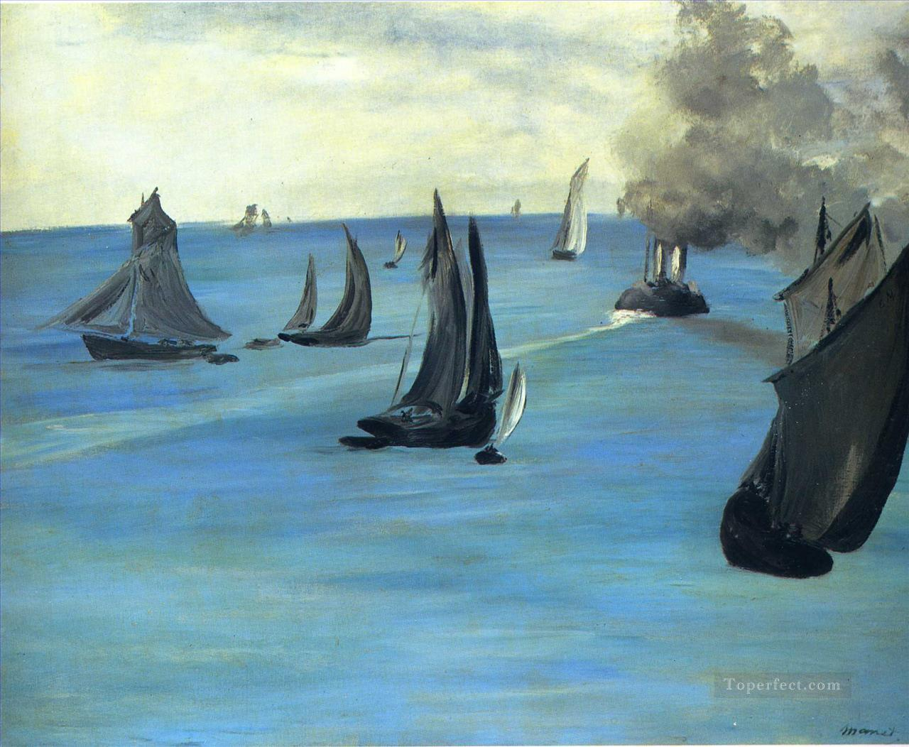 3 The Beach at Sainte Adresse Realism Impressionism Edouard Manet
