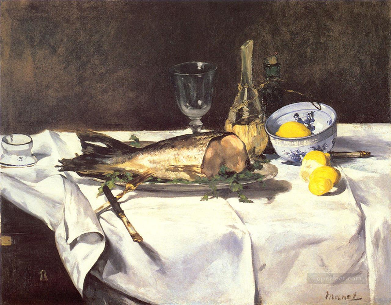 3 The Salmon still life Impressionism Edouard Manet