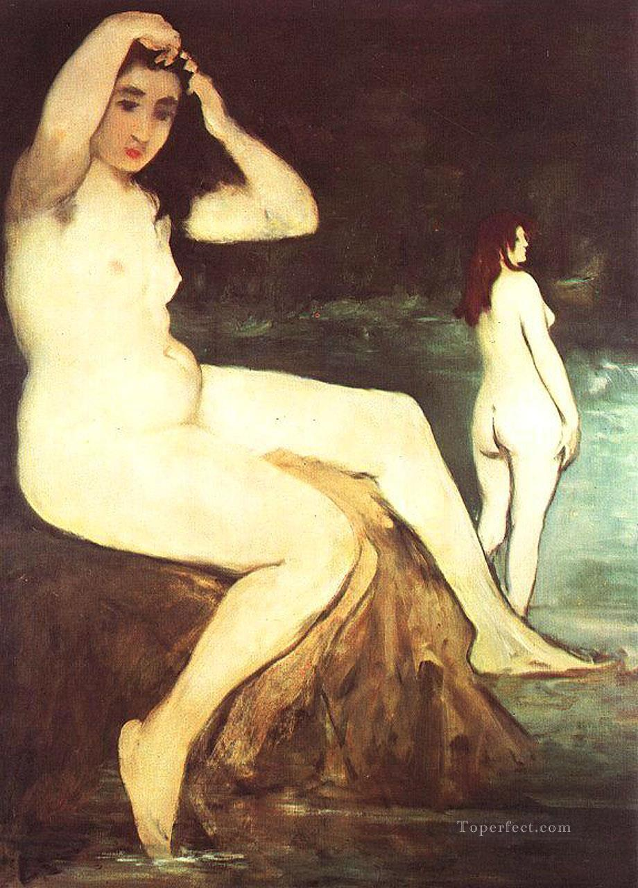 4 Bathers on the Seine nude Impressionism Edouard Manet