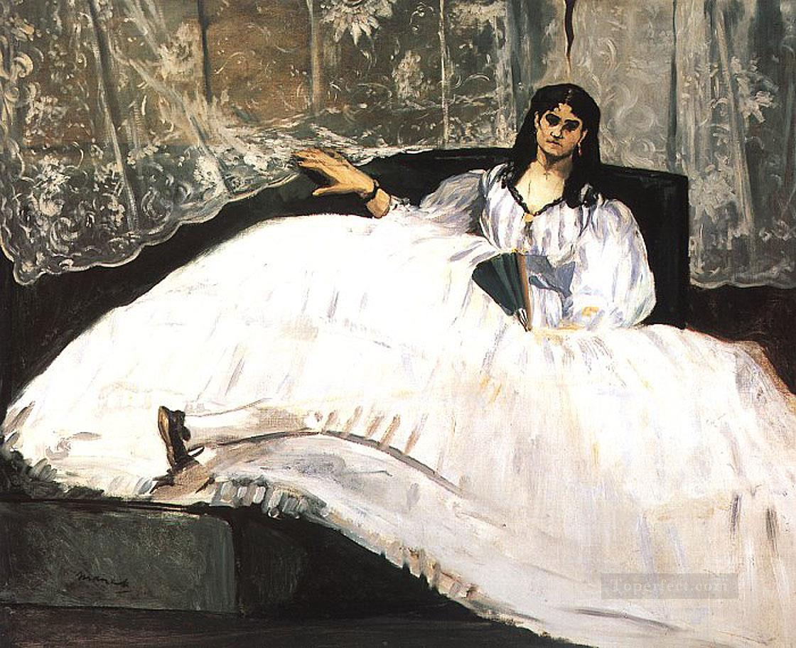 4 Baudelaires Mistress Reclining Study of Jeanne Duval Realism Impressionism Edouard Manet
