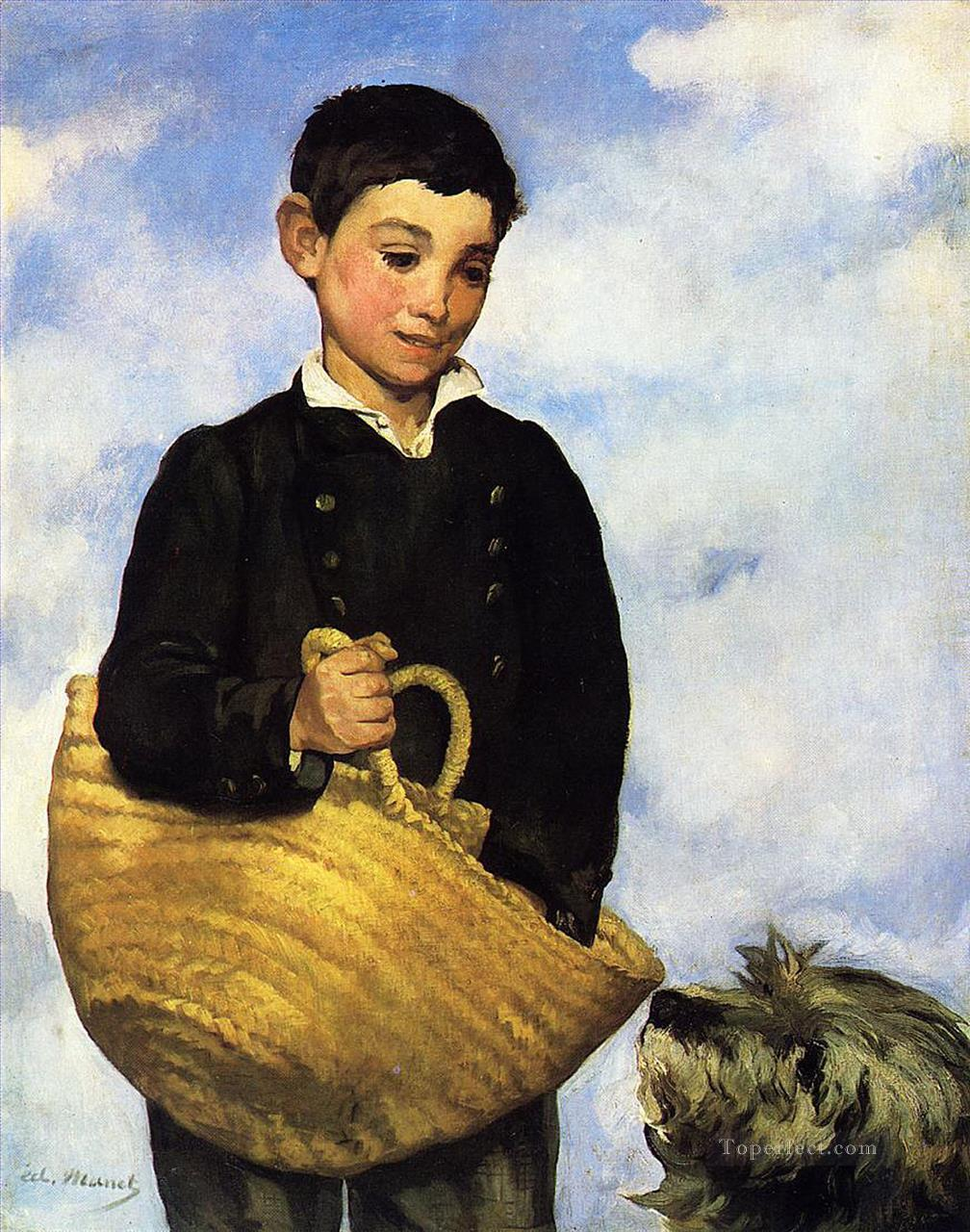4 Boy with Dog Realism Impressionism Edouard Manet