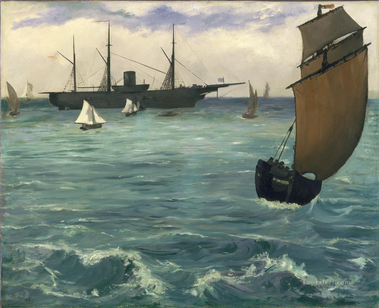 4 Fishing boat coming in before the wind Eduard Manet