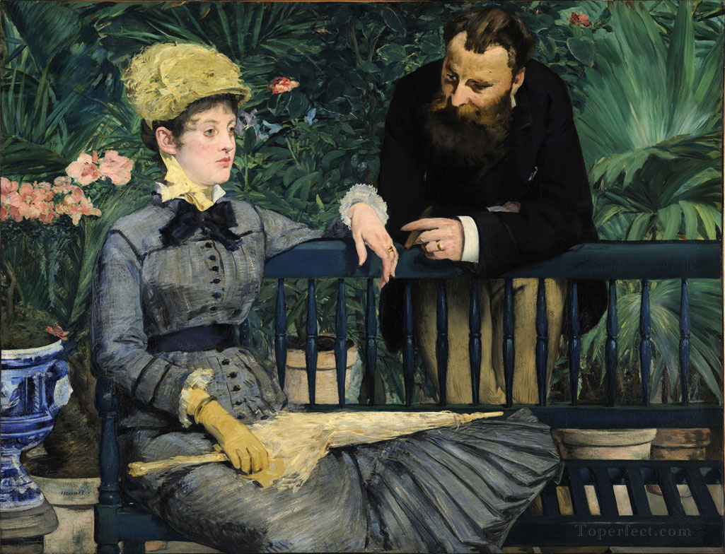 4 In the Conservatory Study of and Mme Jules Guillemet Realism Impressionism Edouard Manet