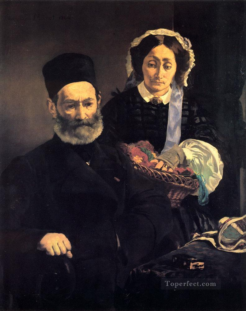 4 M and Mme Auguste Manet Realism Impressionism Edouard Manet